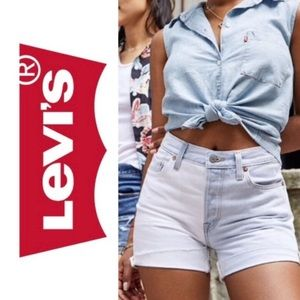 NWT Levi's 501 High Waisted Button Fly Shorts